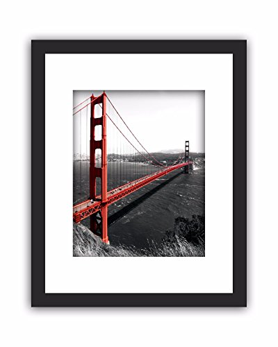 11x14 Real Glass Wood Frame Black ,3 Kind Matted Fit 4x6 8x10 Image Pictures Photo Certificate 8.5x11 inch Desktop Stand or Wall Hang Vertical Horizontal Mat Family Decoration - Of Glasses Kind