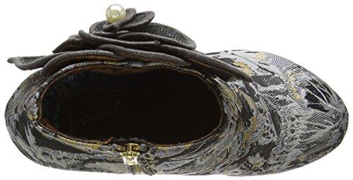 Irregular Choice Women's Pearl Necture Closed-Toe Pumps Black (Black/Grey) zp3HGoM