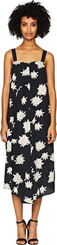 Vince Women's Chrysanthemum Drape Neck Dress Coastal Blue - Drape Silk Neck