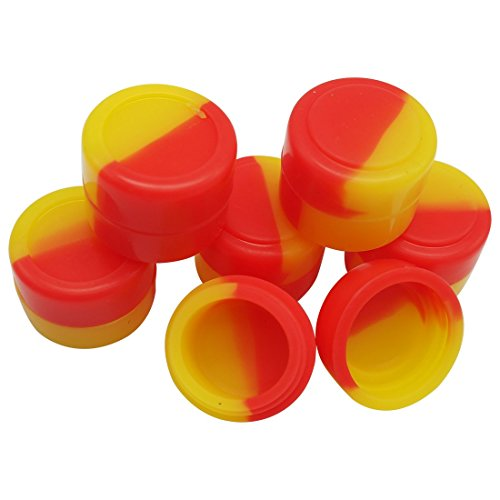 Gentcy Silicone 2ml 100pcs Silicon ContainersJar Seals Oil Wax Concentrate 13Color by Gentcy Silicone (Image #2)
