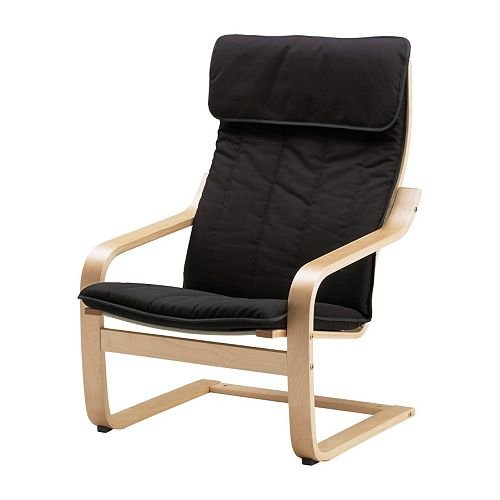 Ikea Poang Chair Armchair with Cushion, Cover and Frame by IKEA