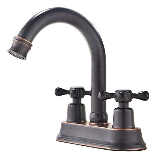 (Modern Oil Rubbed Bronze 2 Handle Centerset Stainless Steel bathroom faucet,Oil Rubbed Bronze Bathroom Sink Faucet)