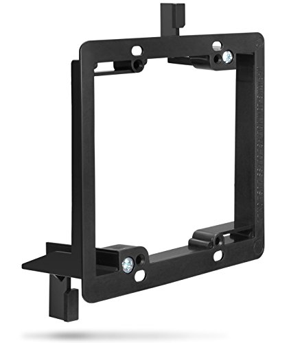 Low Voltage Mounting Bracket (2 Gang), Fosmon Low Voltage Mounting Bracket [Mounting Screws Included] for Telephone Wires, Network Cables, HDMI, Coaxial, Speaker Cables ()