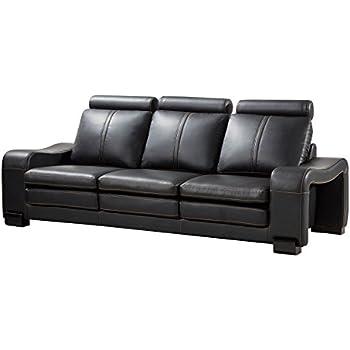 Surprising American Eagle Furniture Delaware Collection Modern Living Room Bonded Leather Upholstered Sofa Black Creativecarmelina Interior Chair Design Creativecarmelinacom