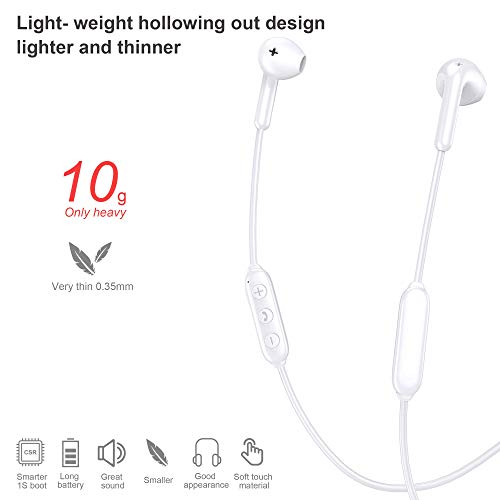 Bluetooth Headphones BS1, Wireless Headphones 5.0+EDR, Transmission 40ft, Built-in MIC Hands-Free Calling, 10 Hour Playtime