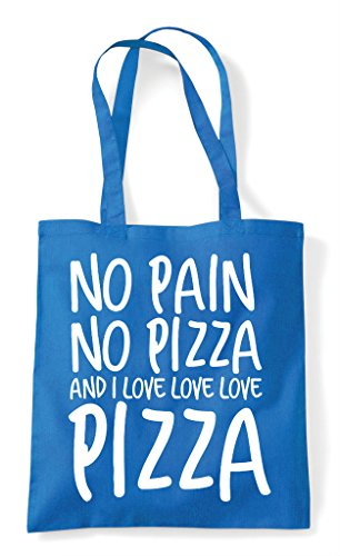 Statement Love Food No Pain Tote Sapphire I Pizza Shopper Bag And X7xwYqwInB