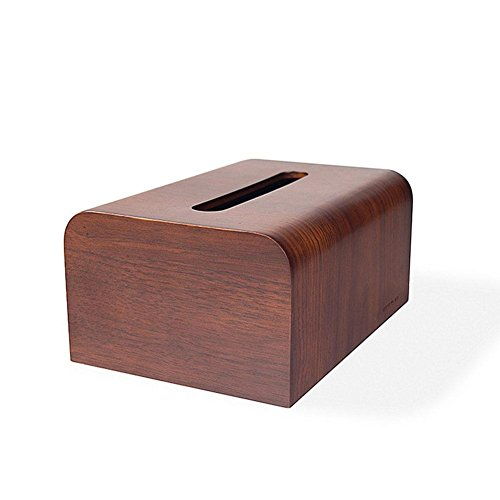 Creative Wooden Tissue Box Holder Cover for Home Office Car Decor by YANXH home (Image #2)