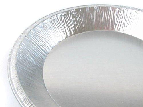 9'' Heavy Duty Foil Pie Pans- 1 1/2'' Deep- Disposable or Reusable #509 (400)