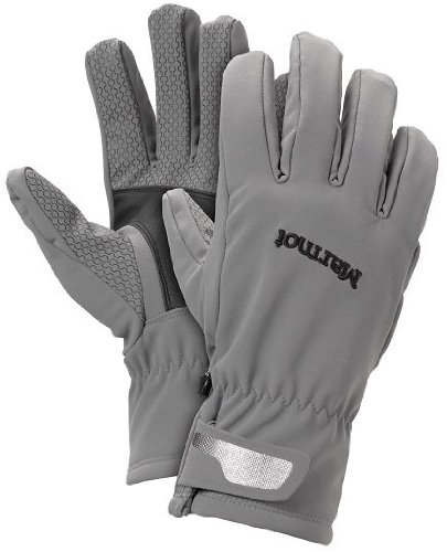 Marmot Men's Glide Softshell Glove, Gargoyle/Black, X-Large ()