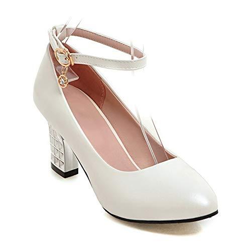 SDC05644 Blanc Femme AdeeSu Compensées Sandales 7xdFw6aRFq