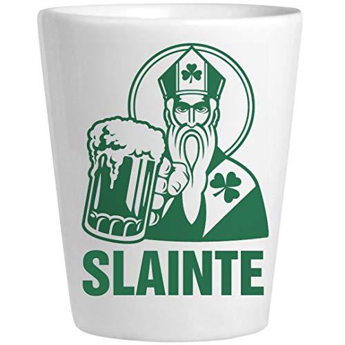 Slainte Irish Shot Glass St. Pat: Ceramic Shot