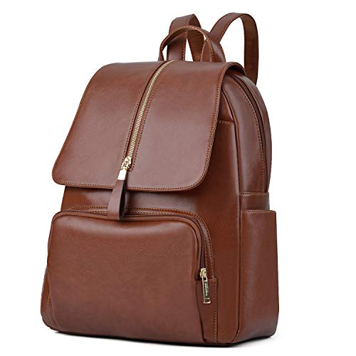 Leather backpack, COOFIT Leather Backpack Purse Schoolbag Laptop Backpack Casual Daypack for Women