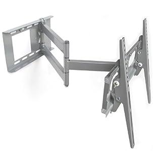 m g techno silber tv wandhalterung wandabstand max 65cm l7 s 1v schwenkbar neigbar plasma lcd. Black Bedroom Furniture Sets. Home Design Ideas