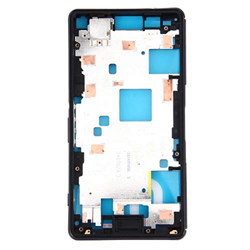 ZHANGTAI Sparts Parts Front Housing LCD Frame Bezel Plate for Sony Xperia Z3 Compact / D5803 / D5833(Black) Repair Flex Cable
