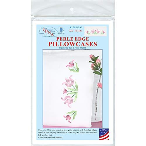 Jack Dempsey JDN1600.296 Pillowcase Perle XX Tulips