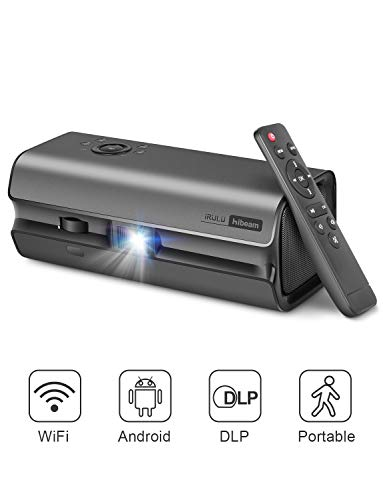 Mini Projector, DLP Projector for Home Theater, Support 1080p 4k Full HD Movies, Android System with Dual Built-in Speaker, Compatible with Iphone/Xbox/Switch/PS4/HDMI/USB for Home Entertainment