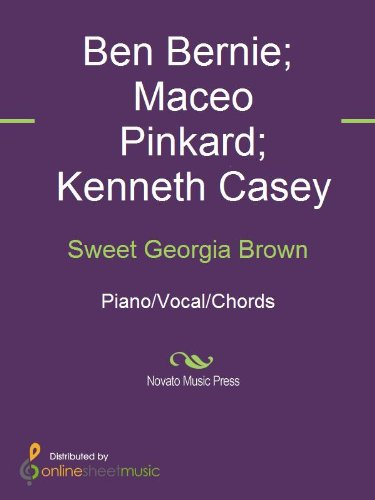 Sweet Georgia Brown Kindle Edition By Ben Bernie Bing Crosby