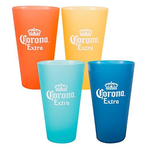 Corona Extra Multi Colored Plastic Cup Set ()