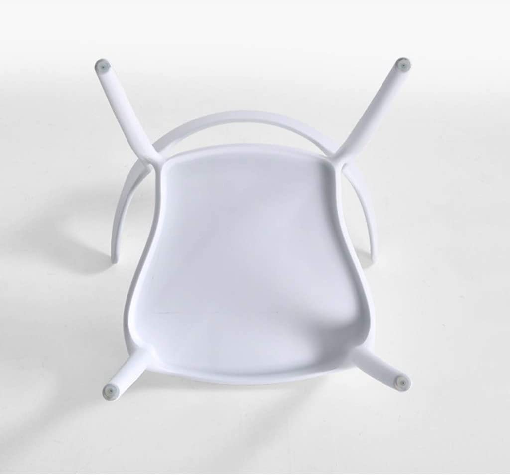LJQ Plastic Dining Chair Backrest Chair, Hotel Negotiation Chair Casual Outdoor Coffee Plastic Chair Office Horn Chair (1 Piece),Yellow White
