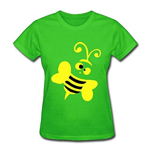 ShuminRZ Honeybee Insect Art -27 Women's Short Sleeve T ShirtSize M Color KellyGreen