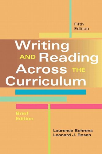Writing and Reading Across the Curriculum, Brief Edition (5th Edition)