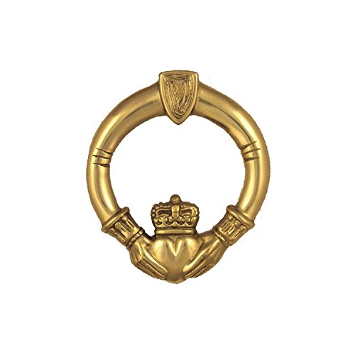 Claddagh Door Knocker - Brass (Premium Size) by Michael Healy Designs (Image #1)