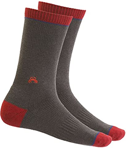 Merino Wool Compression Socks with Arch Support - Crew Length Outdoor Socks