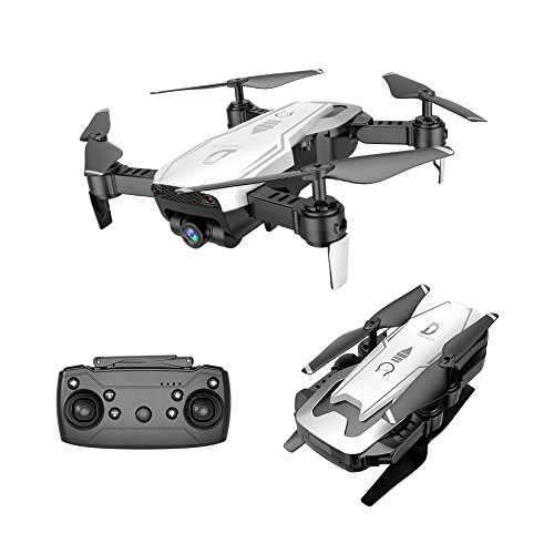 X12 Folding Drone 2.4G FPV Wifi Quadcopter Drone With 720P Wide Angle Camera ,One Key Return,Altitude hold ,Headless mode (White) by Fineser Drone