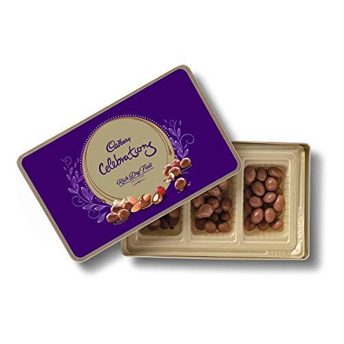 Cadbury Celebrations Rich Dry Fruit Chocolate Gift Box, 177 g & Cadbury Bournville Rich Cocoa Dark Chocolate Bar, 80 gm (Pack of 5) 4