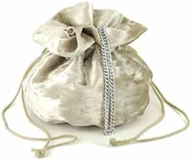ed7f1585a0 LONI British Hand Made Fantasy Suede Velvet Drawstring Clutch Shoulder  Cross-body Bag