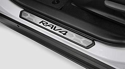 Toyota Genuine Rav4 Door Sill Protectors PK382-42K01. Black & Stainless 4 Piece Set. 2019 Rav4.