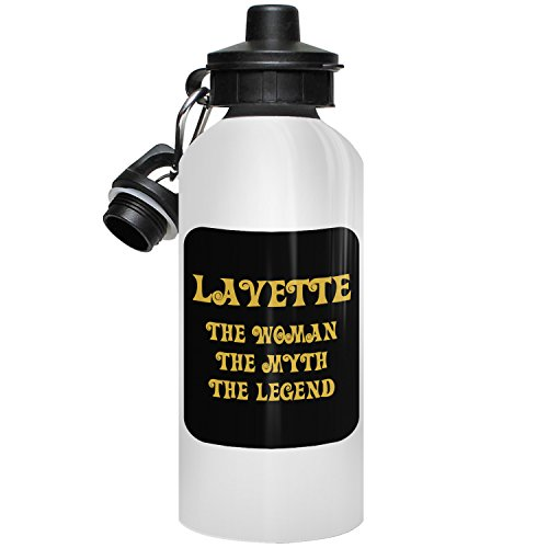 Lavette Bottle - Lavette Water Bottle, Personalized Gift, The Woman the Myth The Legend - Gold Black 1