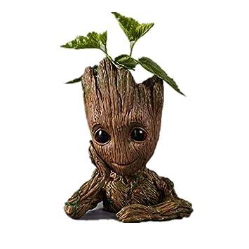 Marvel Baby Groot Pot De Fleurs Limite Cache Pot En Bois Pour