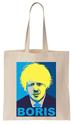 BORIS Johnson HOPE Poster Yellow Hair Sacchetto di cotone tela di canapa