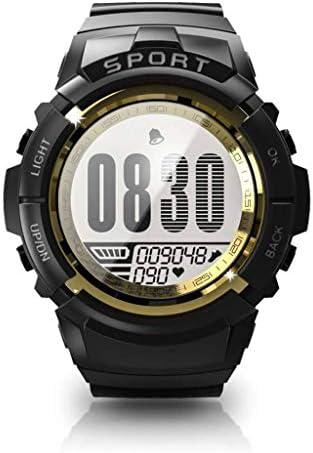 スマートウォッチ, 屋外専用ディスプレイ ウォッチ 運動 活動量計 フィットネストラッカー 防水 Smart Watch 用 IOS Android-黒金-1