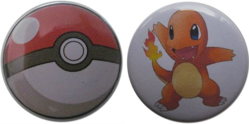 Charmander & Pokéball (From Pokémon) 1.25 Inch Magnet Set (Jessie From Team Rocket)