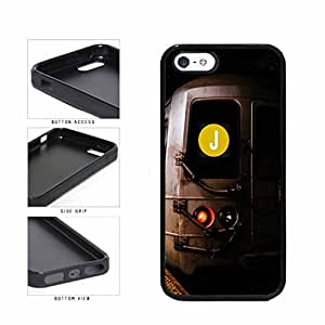 Personalized NYC Train Custom Letter J TPU RUBBER SILICONE Phone Case Back Cover Apple iPhone 5 5s