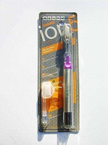 Lila Soladey Ion5 Claro Activado Iónico Cepillo de dientes con Suave Cabeza, Repuesto cabeza y