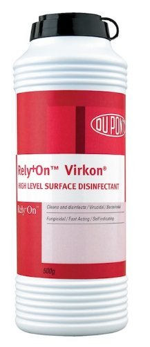 DuPont Rely+On Virkon High Level Surface Disinfectant Powder 500g Shaker by Virkon