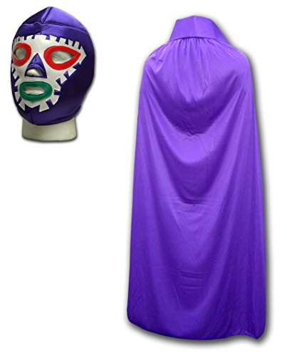 Luchadora Aztec Thunder Lucha Libre Wrestling Outfit Mask With Purple Cape by Luchadora