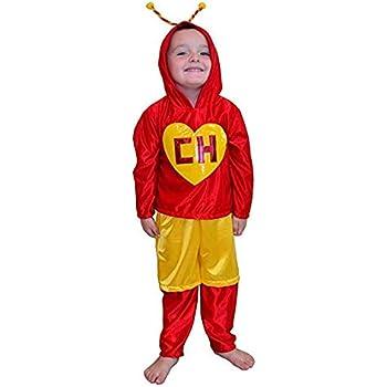 Amazon.com: Chapulin Colorado Disfraz para niño mediano (5-6 ...