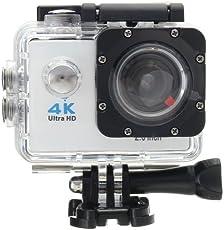 ocamo Moda Portable 4K HD 1080P WIFI Ultra impermeable Deportes Acción Cámara de vídeo DVR Cam Camcorde, Gris