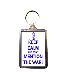 Fawlty Towers - Keep Calm Keyring (Don't Mention the War)