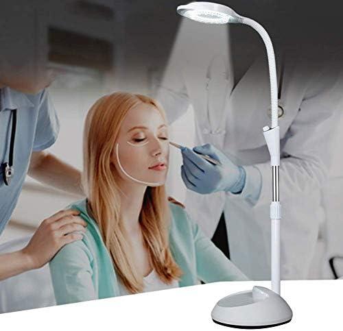 DJYD Lampe Beauty Lamp Semi-Permanent-Chirurgie LED-Kaltlicht Schattenlos Augenbraue-Nagel-Schönheit Wimpern weihten Stehleuchte kann erhöht Werden und abgesenkter Schutzbrille LED-Lampe Perlen FDWFN