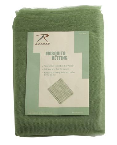 Rothco Mosquito Netting/20Yd Polybag, Olive Drab by Rothco
