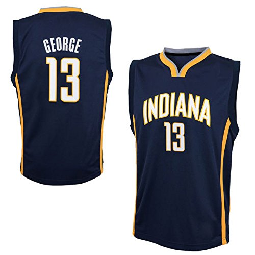 Mens Paul George #13 Indiana Pacers Navy Blue Road Jersey XL