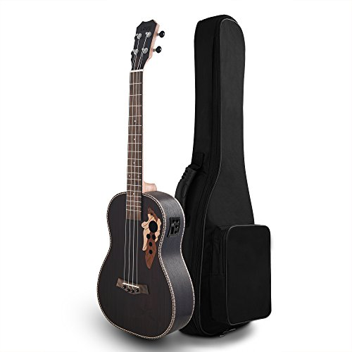 Left Handed - All Solid Rosewood - Caramel CC503L Concert Acoustic & Electric Ukulele with Truss Rod & Soft Case by Caramel