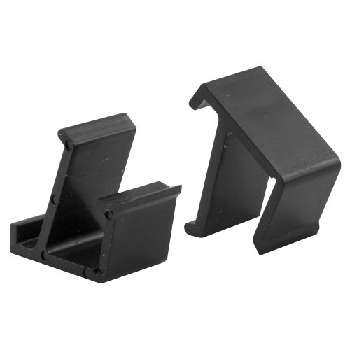 Prime-Line Products L 5684 Screen Frame Retainer Clips, Top and Bottom, Black Vinyl,(Pack of 4) ()