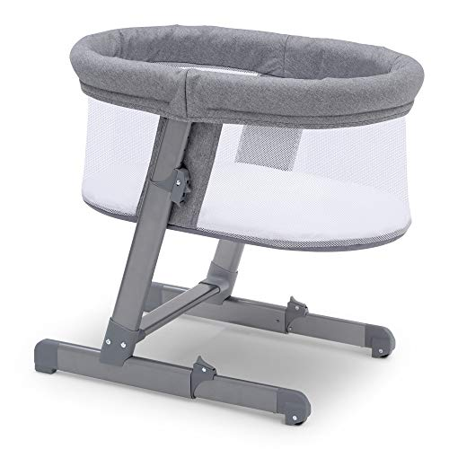 Buy Cheap Simmons Kids Oval City Sleeper Bassinet, Grey Tweed