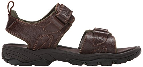 Rockport Mens Sandalo Piatto Sandalo Marrone